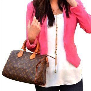 Auth Louis Vuitton Speedy 25 Hand Bag #6255L17